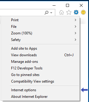 Internet 9 Tools Menu